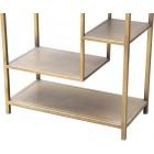 Industriële kast van metaal - Vakkenkast - Kast - Industrieel - Design - Design kast - Luxe - Dressoir - Premium - Boekenkast - Metaal - Metalen kast - Goud - 195 cm hoog