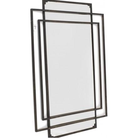 Industriële wandspiegel van metaal - Spiegel - Industriële spiegel - Industrieel - 60 cm breed
