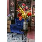 Luxe Fauteuil - Stoel - Design - Chair - Sfeervol - Sfeer - Comfort - Comfortabel - Industrieel - Luxe - Comfortabele stoel - Fluweel - Blauw - 83 cm breed