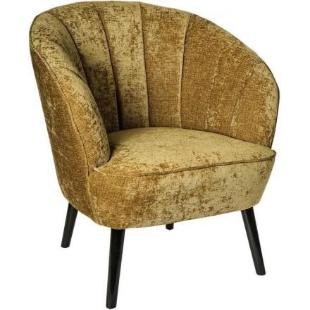 Luxe Fauteuil - Stoel - Design - Chair - Sfeervol - Sfeer - Comfort - Comfortabel - Industrieel - Luxe - Comfortabele stoel - Fluweel - Goud - 74 cm breed