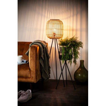 Bamboe lamp staand medium