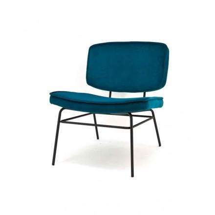 Lounge stoel blauw