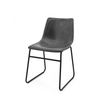 Design stoel leatherlook zwart